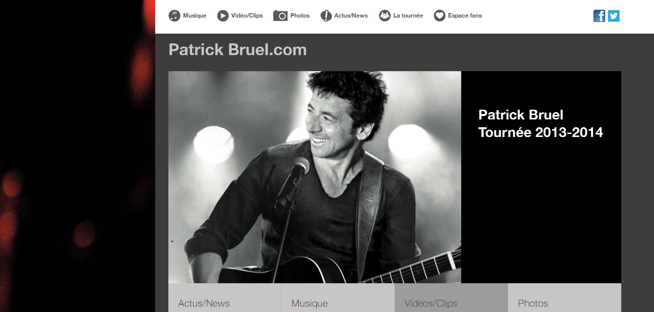 Foto website Patrick Bruel