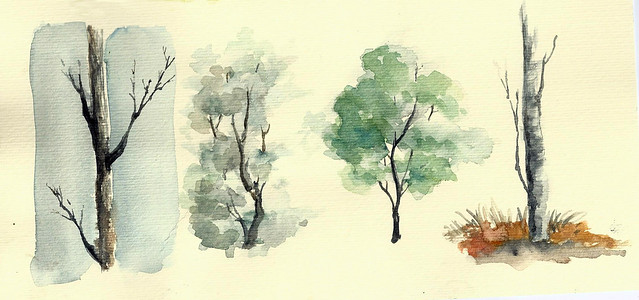 Aquarelle Trees