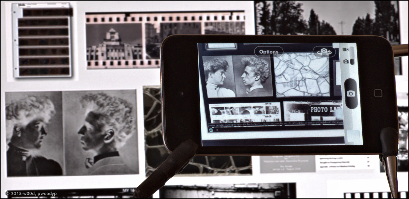 Viewing Black & White Negatives on the iPhone, iPod and iPad.