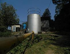 The new sewage treatment plant installed on the school campus.