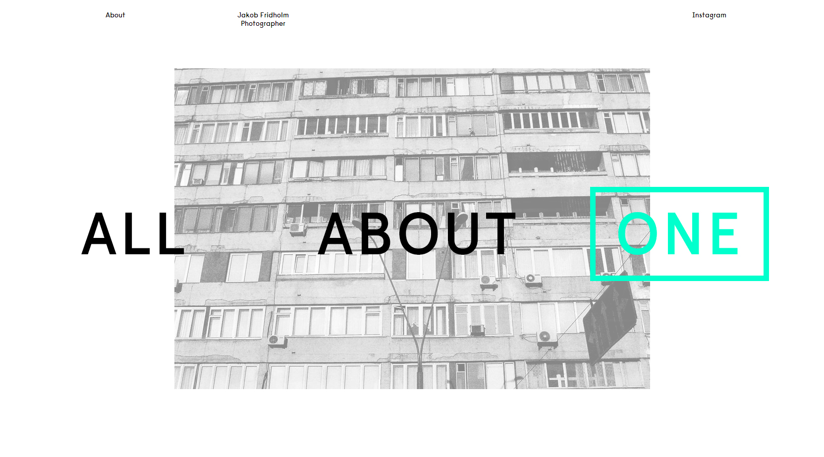 Jakob Fridholm - Clean Website for Your Inspiration