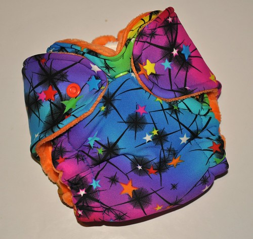 Bumstoppers Newborn Rainbow Stars Hybrid Fitted **New Style**