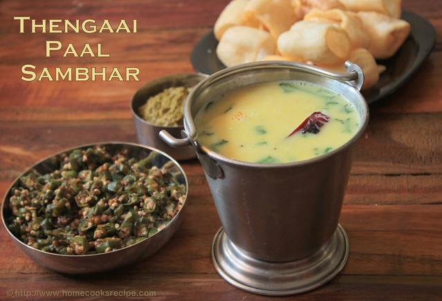 Thengaai paal sambhar