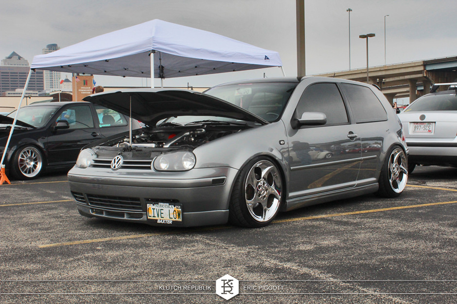 silverstone grey vw mk4 golf gti polished chromed mercedes alphards dubs downtown 2013 slammed dropped dumped bagged static coilovers hella flush stanced stance fitment low lowered lowest camber wheels tucked 16s 17s 18s 19s 20s 3piece 1 piece custom airbags scene scenester