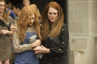 Chloe Grace Moretz and Julianne Moore in the new Carrie