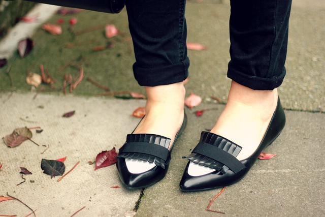 Zara monochrome loafers