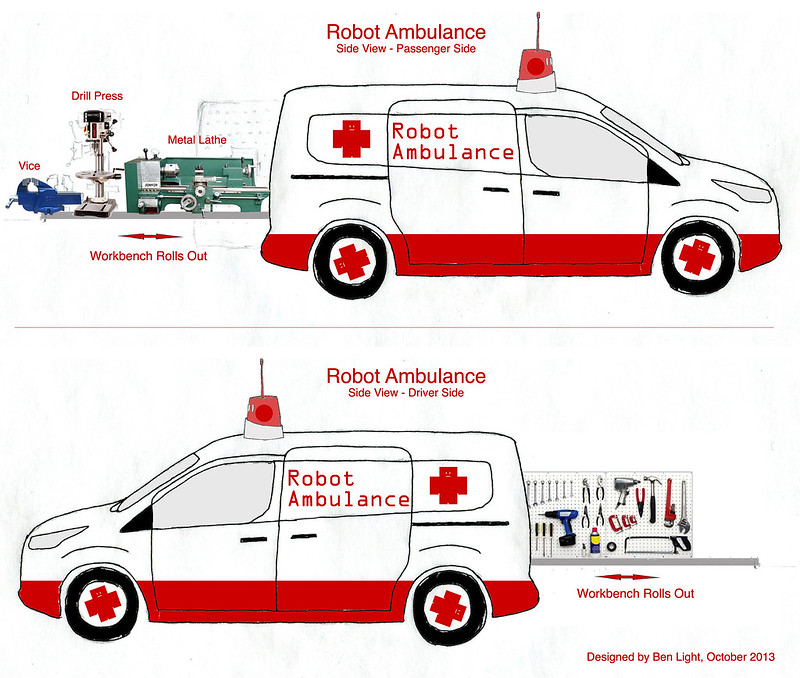Robot Ambulance Concept Drawing