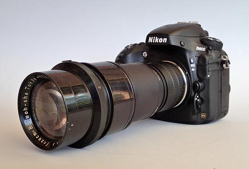 Nikon D800 Rokuoh Sha Hexar Ser IIa 20cm f/3.5 lens (s/n 3795)