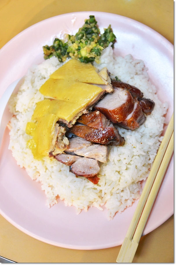 Char Siew & Poached Chicken Rice