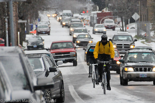 Snow scenes in Portland-17