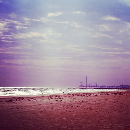 Galveston in December #purple #beach #horizon #landscape #igtexas #latergram
