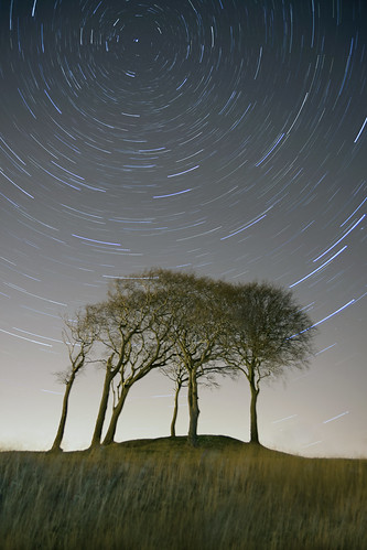 uk longexposure trees light sky nature grass night canon stars landscape movement northeast houghtonlespring canon2870 canon5dmkii