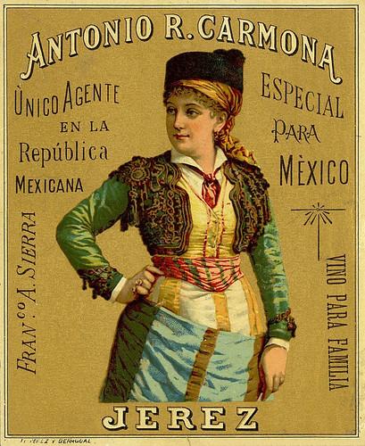 003-Etiquetas de bebidas. Figuras y retratos de mujeres-1890-1920- Biblioteca Digital Hispánica