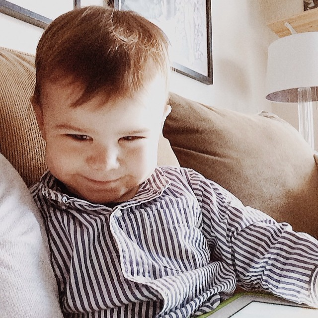 Smarmy smug. #instaluther #toddler