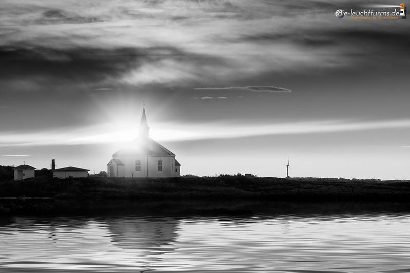 Chapel Dverberg during sunrise