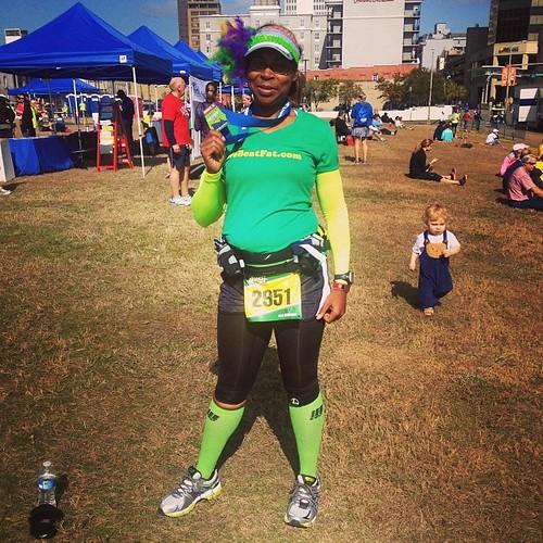 Finished #blrwmobile #halfmarathon in 2:14:49! I struggled but I had a great time!