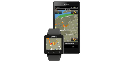 Sony unveiled a SmartWatch 2 Garmin Navigation App