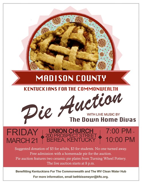 Madison County Pie Auction flyer 2014