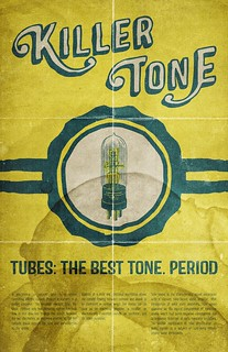 Vintage vacuum tube ad poster and tutorial