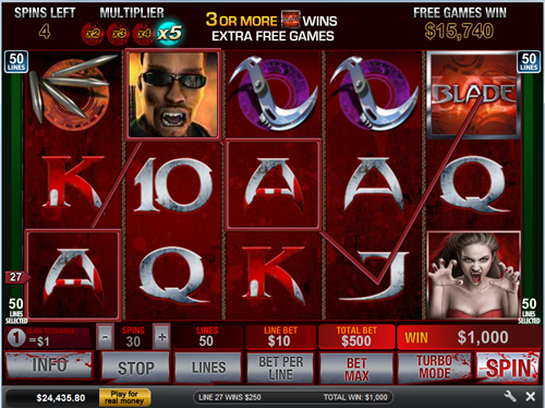 free Blade 50 Line Free Spins