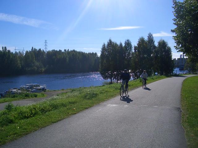 Una ruta en bici