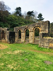 Errwood Hall ruins in the Goyt Valley