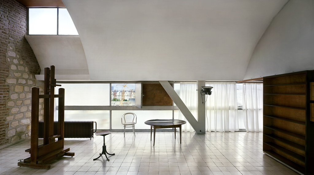 Le Corbusier's studio, rue Nungesser-et-Coli, Paris, 1931-34. © Richard Pare, 2012