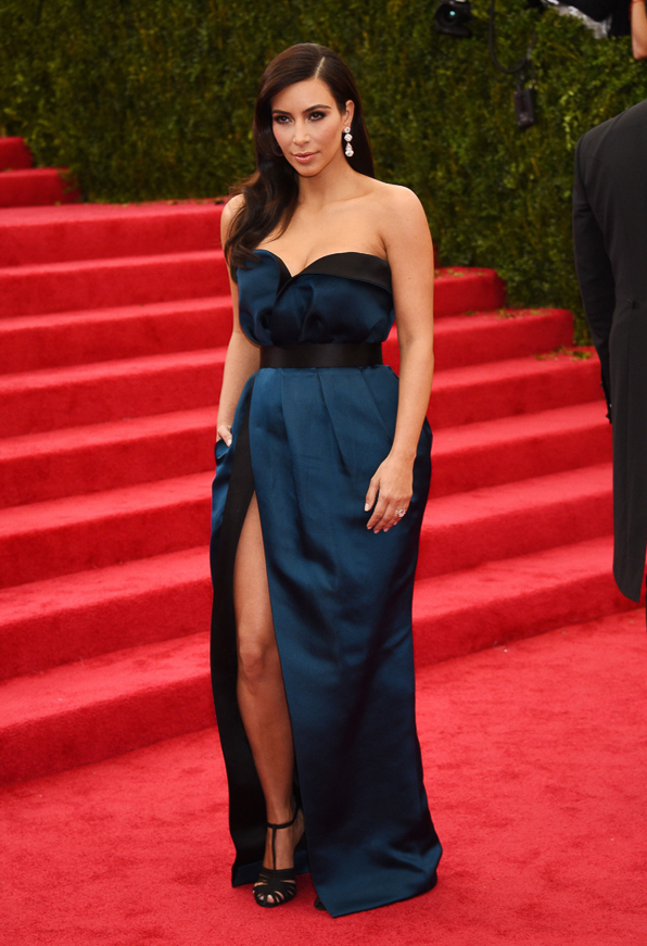 2014 Met Ball Best Dressed Kim Kardashian in Lanvin