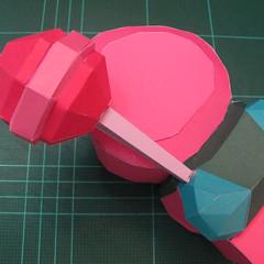 วิธีทำโมเดลกระดาษตุ้กตาคุกกี้รัน คุกกี้รสสตอเบอรี่ (LINE Cookie Run Strawberry Cookie Papercraft Model) 040