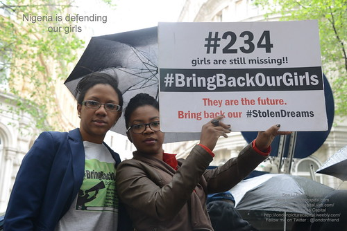 #BringBack OurGirls protest in London