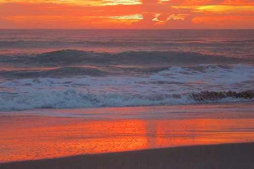 ocean sunset beach dawn sand surf florida wetsand indialantic