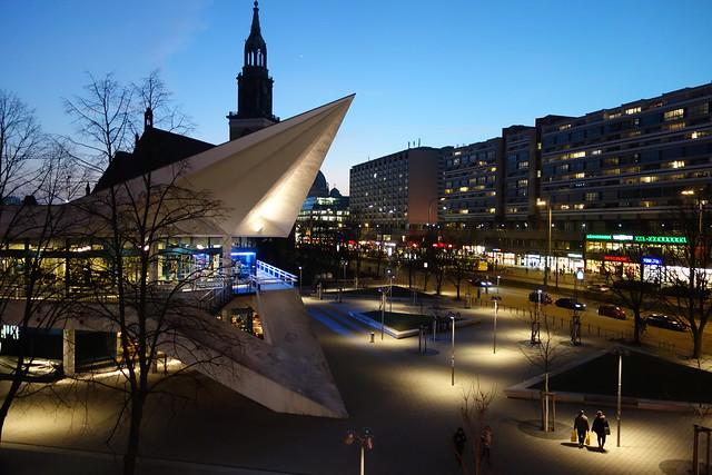 Abenddämmerung in Berlin Mitte