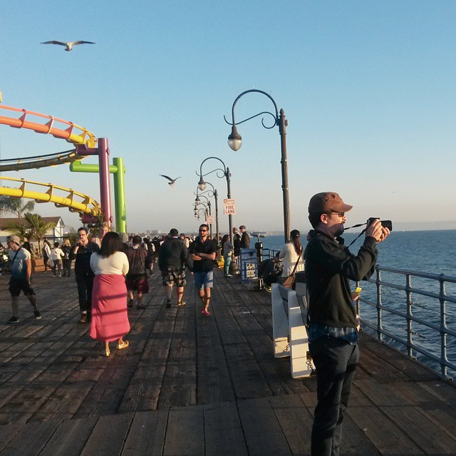 Santa Monica pier,  LA, California