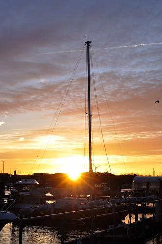 deutschland sonnenuntergang sundown fischereihafen lübecktravemünde c2015karinslinsede schleswigholsteinkreisfreie