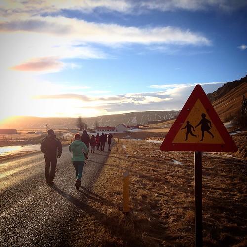 road sunset freeassociation iceland fa