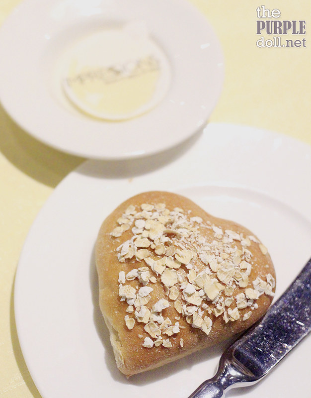 Heart-shaped bread at Impressions