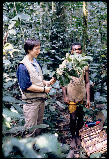 Collecting plants with Atoka, circa 1990