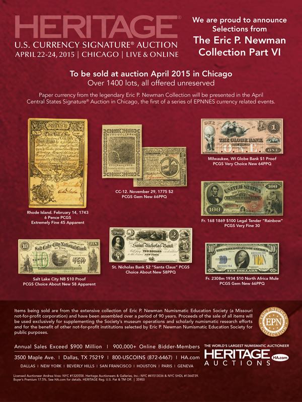Heritage Newman Sale VI 2015-02-22