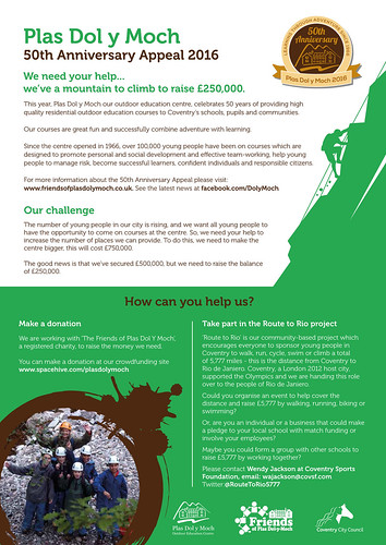 Dol-y-Moch Datasheet 50th Anniversary Appeal Infographic