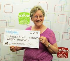 Wanda Cook - $30,000 Bonus Numbers