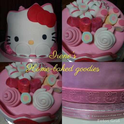 Simple Hello Kitty Cake by Irene Dalupan