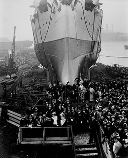 Launch of the Japanese cruiser 'Iwate'