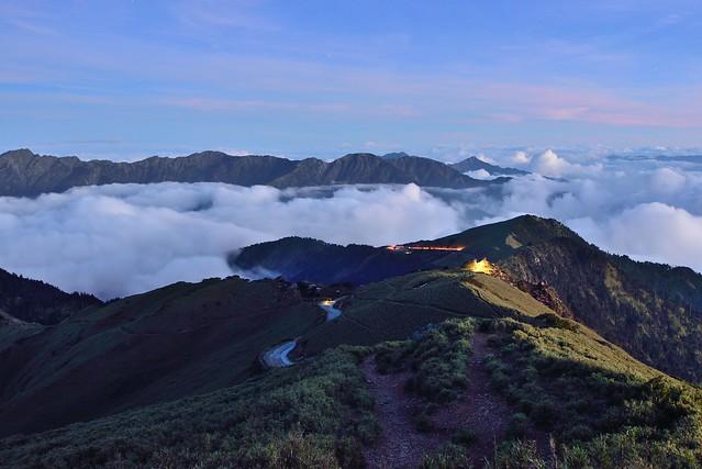 Night fall at Mountain Hehuan 合歡山