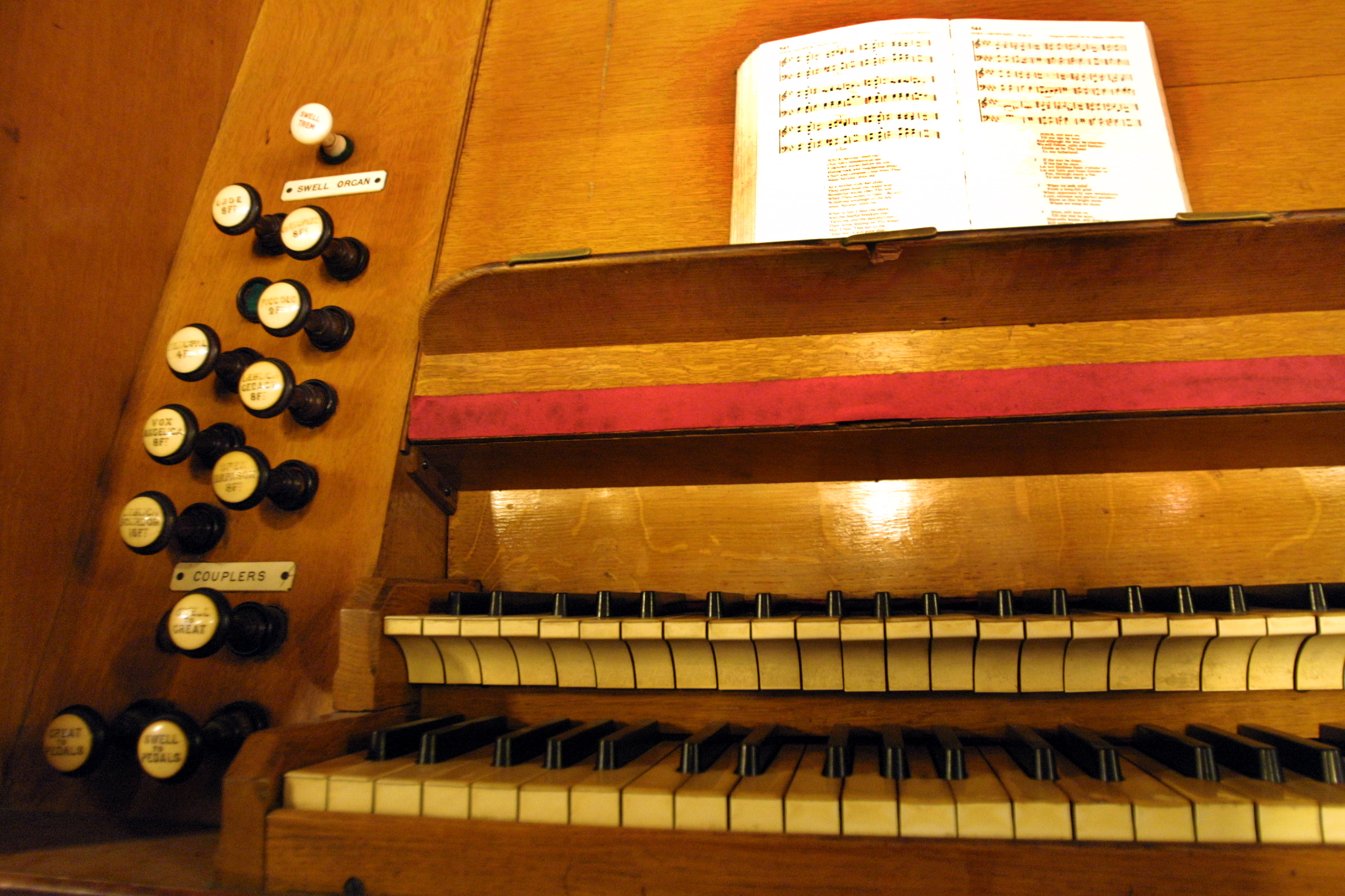 42. Try out the organ