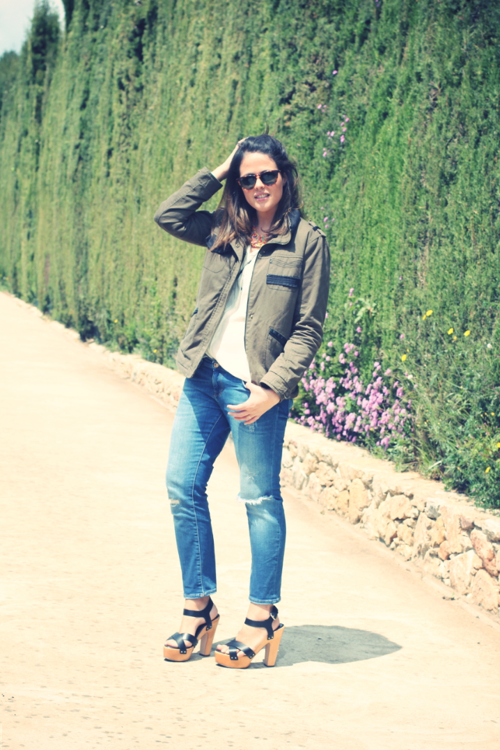 Look white shirt + jeans - Monicositas