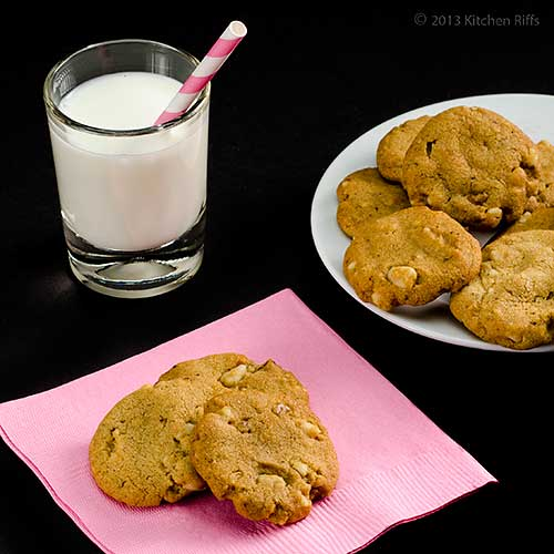 Black-Walnut Sandies with Glass of Milk