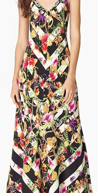 Juicy Couture Trellis Striped Maxi Dress
