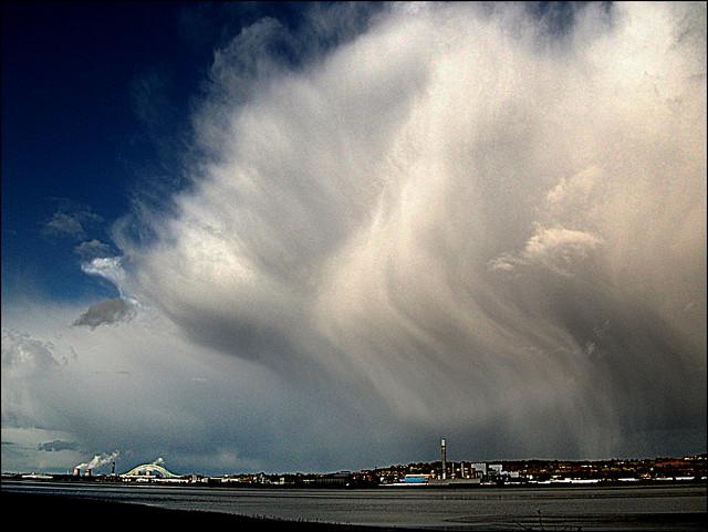 Stormy Sky over Runcorn, Fujifilm FinePix AV110