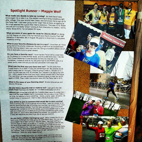 Honored to be the spotlight runner at @runningforkicks :)