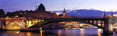 Pont Notre-Dame and dusk, Paris, France